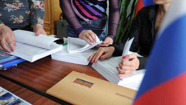 Подготовка участков к голосованию по выборам президента РФ. Архив