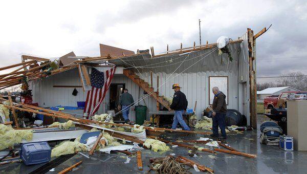 Последствия торнадо в американском штате Кентукки