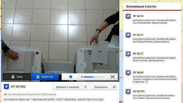Голосование на избирательном участке №1402 в Дагестане