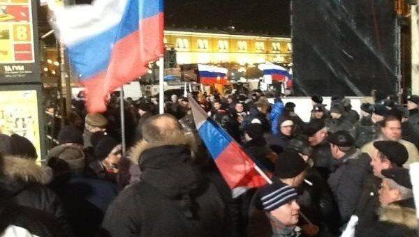 Манежная площадь Москва выборы репортер