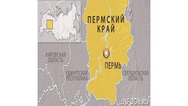 Пермский край, Пермь. Карта