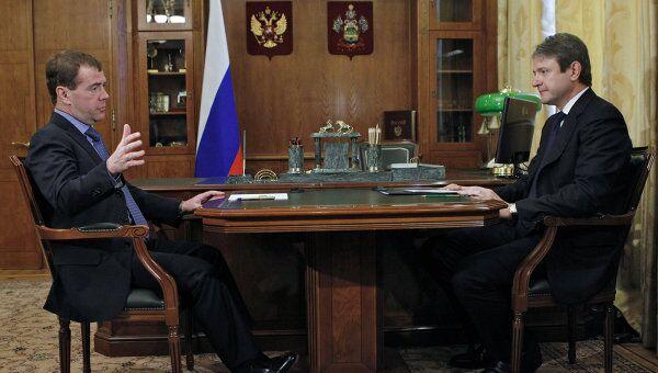 Президент РФ Д.Медведев встретился с губернатором Краснодарского края А.Ткачевым
