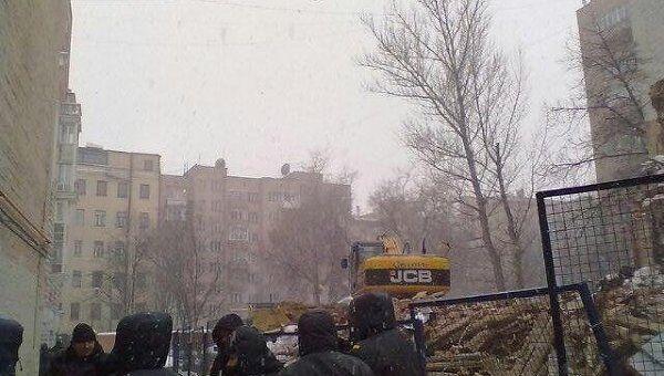 Ситуация в Козихинском переулке репортер