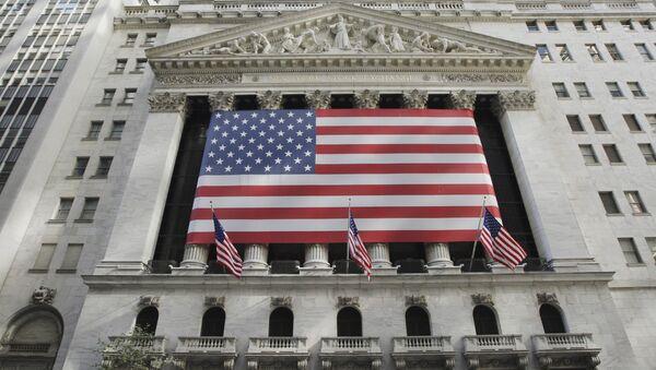 Здание Нью-Йоркской фондовой биржи. Архив