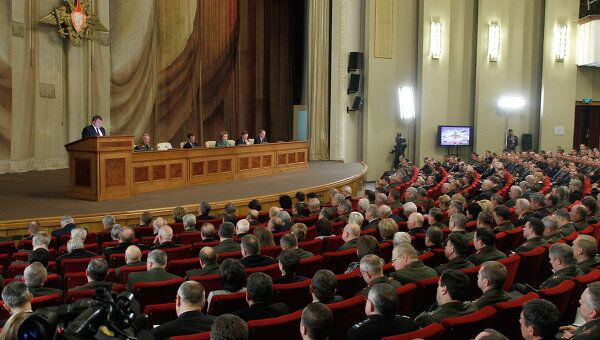 Д.Медведев на расширенной коллегии министерства обороны РФ