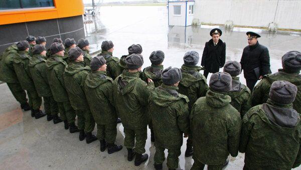Группа призывников. Архив