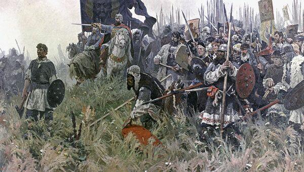 Картина А.П.Бубнова Утро на поле Куликовом