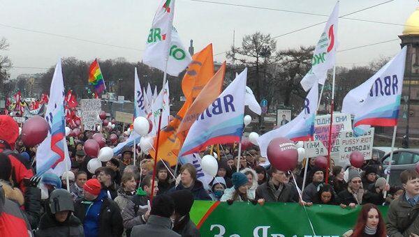 Вернем стране выборы! – марш оппозиции в Санкт-Петербурге