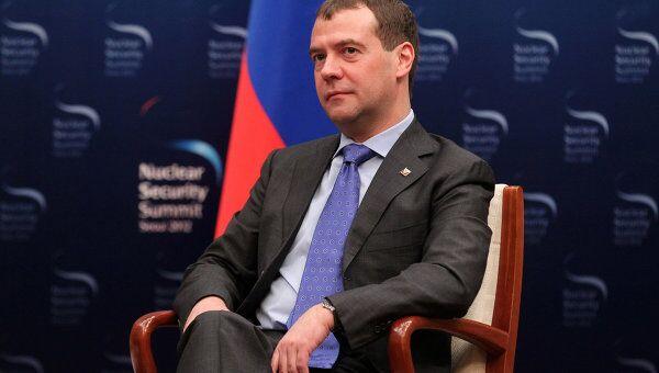 Президент РФ Д.Медведев встретился с президентом США Б. Обамой