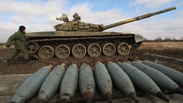 Танковые учения Балтийского флота на полигоне Армейское