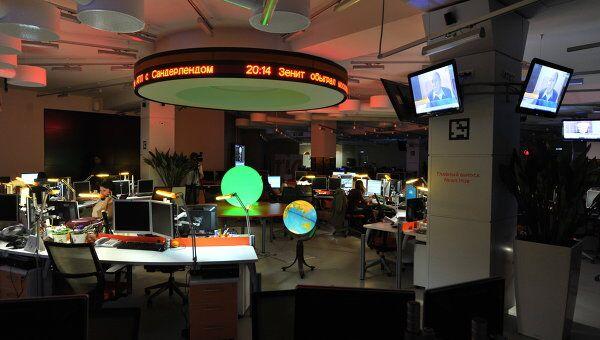 Главный выпуск РИА Новости во время Часа Земли