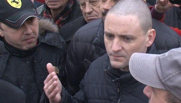Мы будем требовать час эфира на всех центральных каналах – Сергей Удальцов