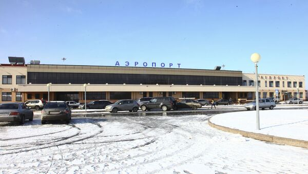Здание аэропорта Рощино в Тюмени. Архивное фото