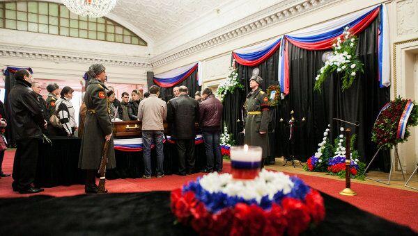 Похороны майора Сергея Солнечникова в городе Волжском
