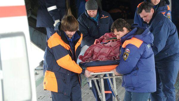 Спецборт МЧС с раненым в катастрофе под Тюменью прибыл в Москву