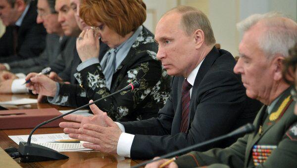 Премьер-министр РФ В.Путин встретился с членами координационного совета ОНФ