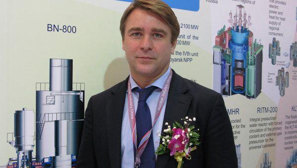 Временно исполняющий обязанности генерального директора машиностроительного дивизиона Росатома ОАО Атомэнергомаш Борис Арсеев на выставке Nuclear Industry China – 2012 в Пекине.