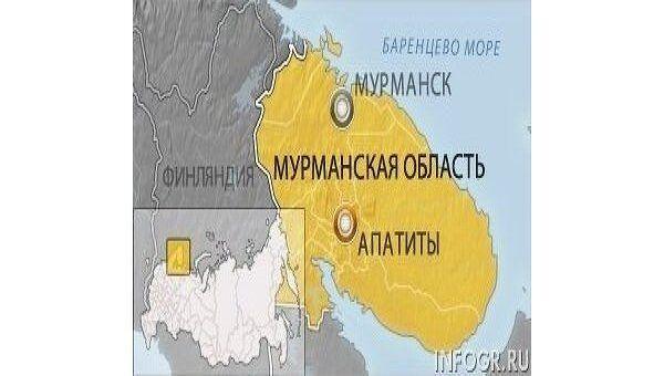 Карта Мурманской области, Апатиты