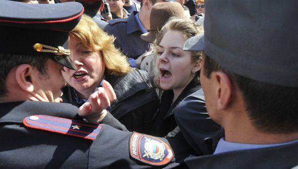 Несанкционированная акция протеста в Астрахани