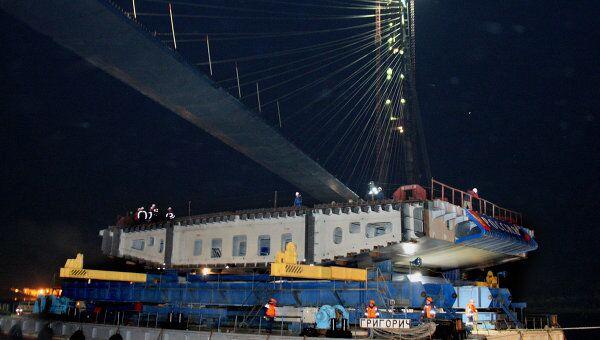 Завершение строительства вантового моста на остров Русский