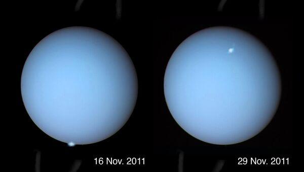 Полярное сияние у полюсов Урана