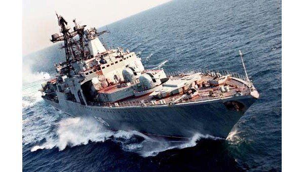 Противолодочный корабль (БПК) Тихоокеанского флота Маршал Шапошников. Архив