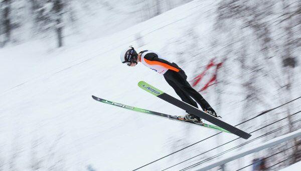 Летающий лыжник, архивное фото