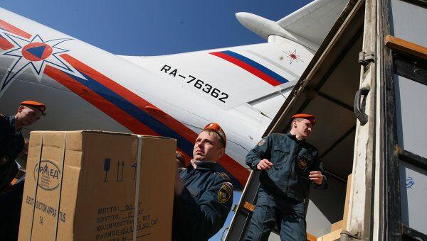 Самолет МЧС России привез гуманитарную помощь в Намибию
