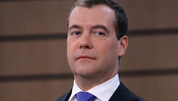 Интервью Д.Медведева журналистам пяти телеканалов в прямом эфире