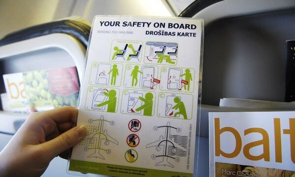 Буклет по безопаснсти на борту самолета