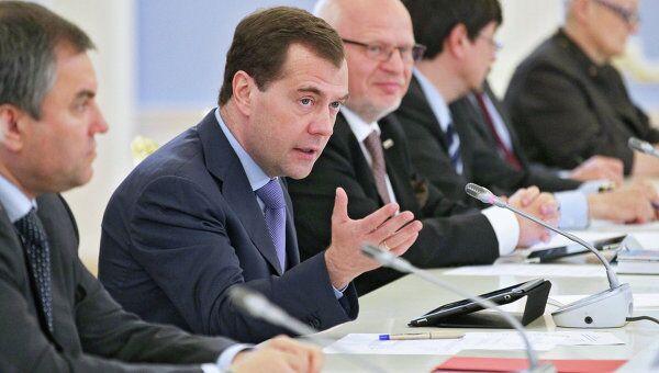 Президент РФ Д.Медведев встретится с президентским Советом по правам человека (СПЧ)