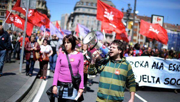 Демонстрация в Бильбао, Испания