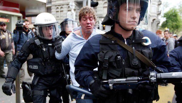 Задержания во время первомайской демонстрации в Цюрихе
