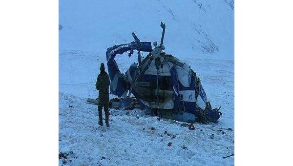 Фото вертолета Ми-8, разбившегося на Алтае 9 января. Архив