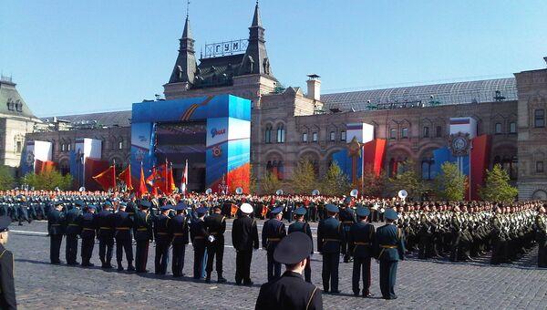 Репетиция парада на Красной площади в Москве