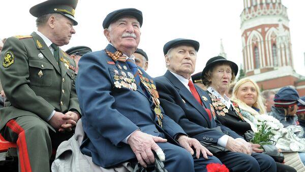 Военный парад, посвященный Дню Победы. Архивное фото