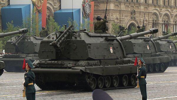 Мста-С, Тополь-М и автомобиль Рысь на параде Победы в Москве
