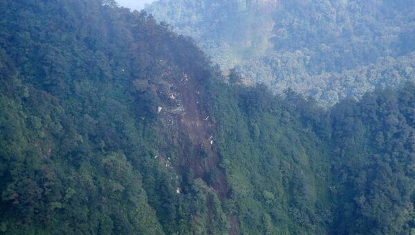 Снимок горы, в которую врезался Superjet