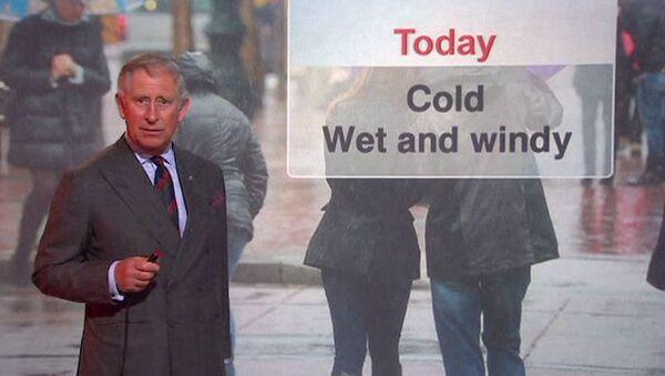 Принц Чарльз выступил в роли ведущего прогноза погоды на BBC Scotland