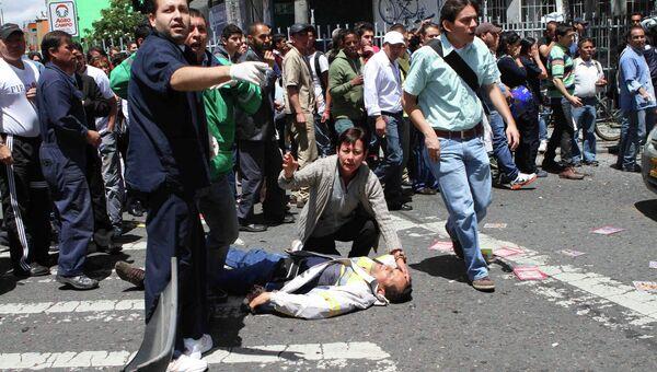 Беспорядки в Колумбии. Архивное фото