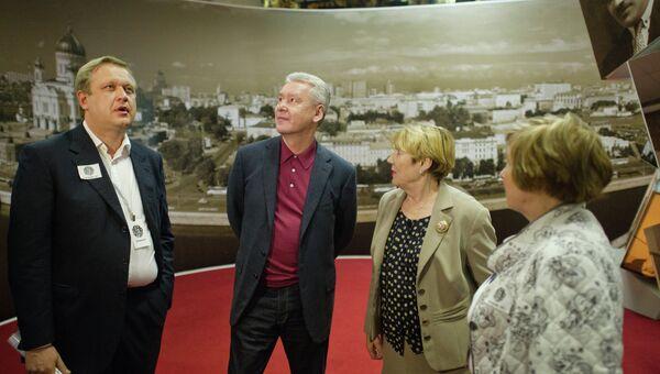 Мэр Москвы Сергей Собянин в Музее Москвы во время Ночи в музее - 2012