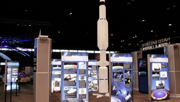 Мини-выставка ПРО в пресс-центре НАТО в Чикаго. Ракета СМ-3
