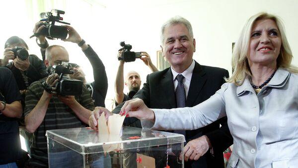 Томислав Николич на выборах в Сербии