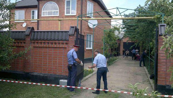 Дом фермера в Кущевском районе, на который было совершено нападение