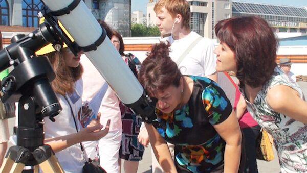 Новосибирцы увидели Венеру в телескопы и через специальные очки