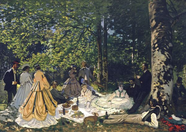 Картина художника Клода Моне Завтрак на траве