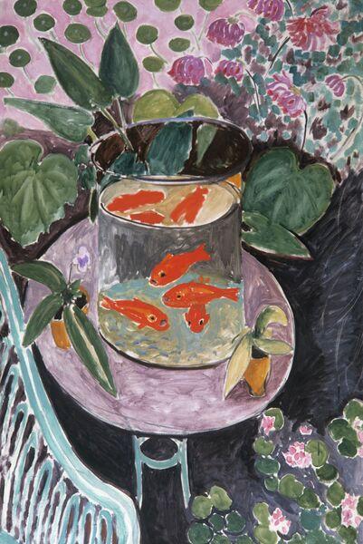 Репродукция картины Красные рыбы