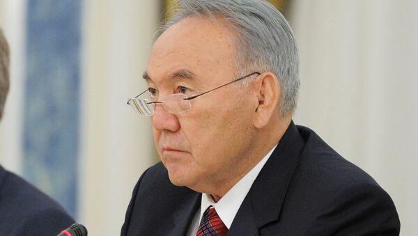 Президент Казахстана Нурсултан Назарбаев на российско-казахстанских переговорах в резиденции Акорда в Астане