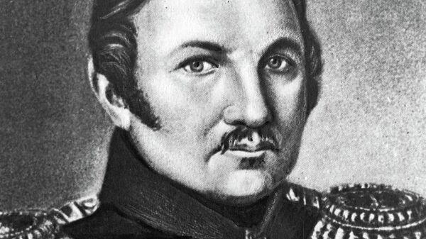 Фаддей Фаддеевич Беллинсгаузен (1778-1852), российский, мореплаватель, адмирал. Репродукция. Архивное фото