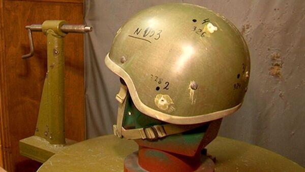 Шлем солдата будущего попытались пробить стальными шарикам на испытаниях